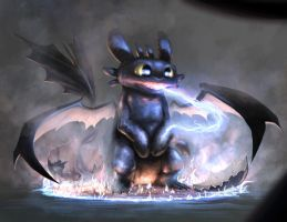 the birth of toothless by G0N7AL0
