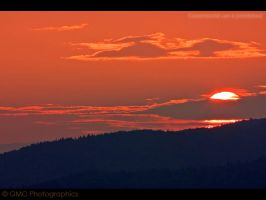 Sunset over the Alpen trees by GMCPhotographics