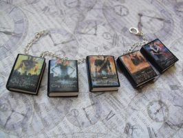 The Mortal Instruments book charm bracelet by InsaneJellyBean95