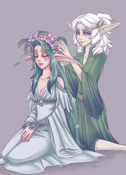 Kistra and Syliune by myre
