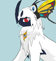 Absol and Beautifly (rp scene) by Alley-san
