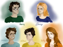 Potter family by Elderberry-bb