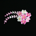 Berries 'n Cream Cherry Blossom Tsumami Kanzashi 2 by japanesesilkflowers