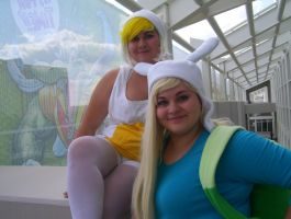 Cake the Cat and Fionna the Human by Konchiroichi