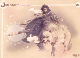 26 - Jon Snow and Ghost by BLAME-001