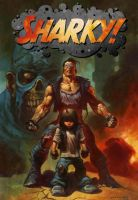 SHARKY trade cover by ALEX HORLEY with new logo. by DeevElliott