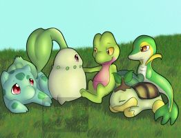 Grass Babies by RikaPup