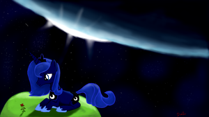 Lonely Luna by TheQuezacotl