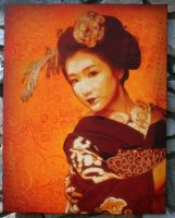 Maiko Fukuho on canvas by Tony231
