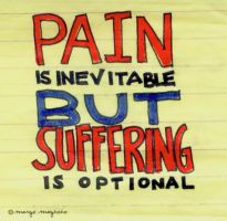 Suffering is Optional by margemagtoto