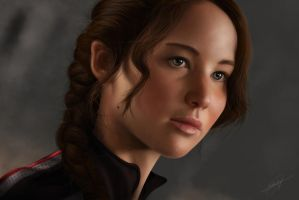 Katniss Everdeen ( Digital Portrait ) by isaiahpaulcabanting