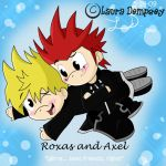 KH - Roxas and Axel Chibis by Perry-the-Platypus