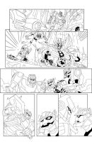 TF Animated Botcon page 4 inks by MarceloMatere
