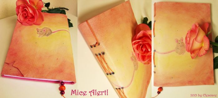 'Mice Alert!' Leather Journal by Elescave