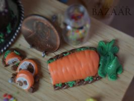 Sculpted Carrot Cake 1:12 Scale by TheMiniatureBazaar
