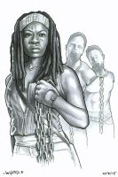 Michonne by ByronWinton