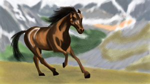 Horsey! now with 100% more background! by proxy85