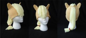 MLP Applejack Beanie with Ears and Mane by RebelATS