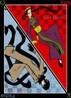 Desert Cards: Gobi and Siberia by RedMoonDragon