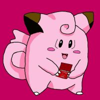 Clefairy with 3DS by LunaClefairy