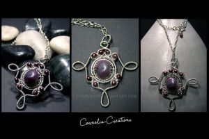 Gipsy Queen Pendant Necklace by charliecfp