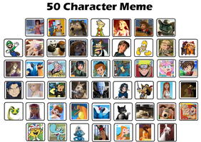 My 50 Characters Meme by jacobyel