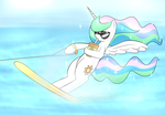 celestia's summer vacation time by Lamiaaaa