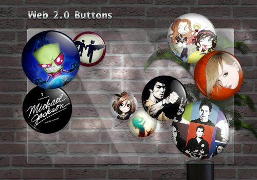 Web 2.0 Buttons by Feehily