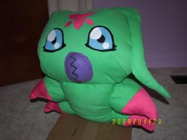 Giant Wormmon plush by PlushKarmsie