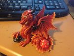 Double Dice Dragon WIP by LittleDragonDesigns