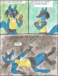 Lucario and Chocolate by kingofthedededes73