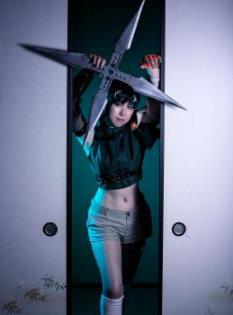 Yuffie FF7 cosplay at Wutai part4 by mayuyu0405