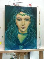 Sailor Neptune Oil painting by ladykylie