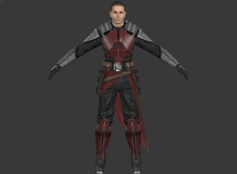 Star Wars:The Force Unleashed 2 - SK Blood Armor by elonir