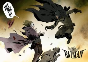 batman vs joker by willian012