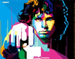 .:Jim morison WPAP:. by gilar666