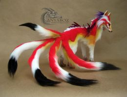 Ayumu the Dragon Kitsune Room Guardian by AnyaBoz
