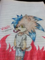 gift for my best friend vixoh the hedgehog by LittleChewrrie
