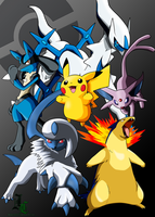 My Pokemon Team Colored by JamalC157