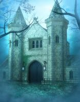 Misty Castle Free background by moonchild-ljilja