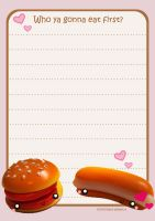 Burger Stationery by kickass-peanut