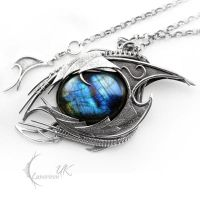 AXTRIIS DRACO - silver and labradorite by LUNARIEEN