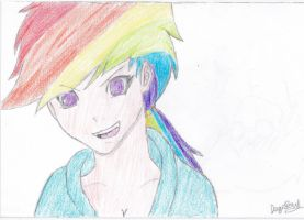 Rainbow Dash (Humanized) by NeonScratch