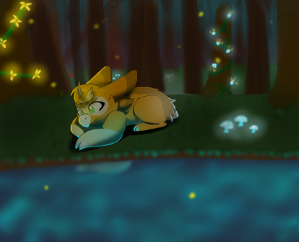 Fawn And The Luminesent Forest by AnthonyArtFreak