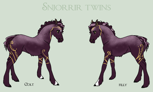Snjorrir foal #209 and #210 by Jian89