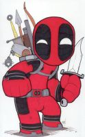 Chibi-Deadpool 2. by hedbonstudios