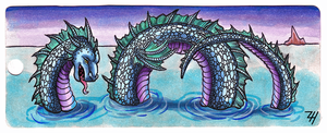 Sea Serpent Bookmark by ZoeHildebrand-R