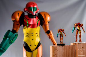 Samus Cosplay - Amiibo, Figma, and Cosplay by d-slim