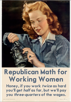 Republican Math for Working Women by poasterchild