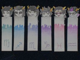 Homestuck Bookmarks 2 by Dubblosix
